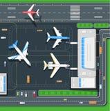 Illustration terminale d'avions Images libres de droits