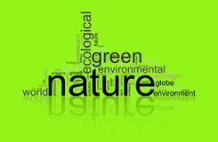 Illustration with terms like natur or environment Stock Photos
