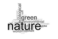 Illustration with terms like natur or environment Stock Images