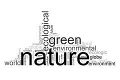 Illustration with terms like natur or environment Royalty Free Stock Photography