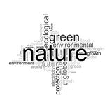 Illustration with terms like natur or environment Royalty Free Stock Photo