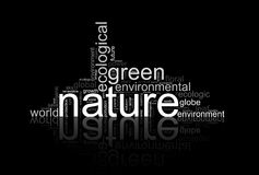 Illustration with terms like natur or environment Royalty Free Stock Images