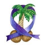 Illustration of testicular cancer. royalty free illustration