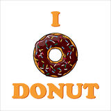 Illustration with text and donut. Royalty Free Stock Photos