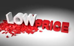Illustration with text low price Stock Photo
