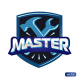 Illustration - text master, hammer and wrench Royalty Free Stock Photos