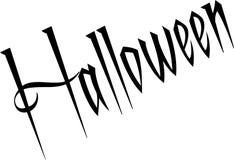 Halloween text sign message Royalty Free Stock Photos