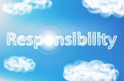 Illustration of text responsibility Stock Images
