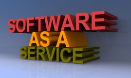 Software as service. An illustration of the text software as a service vector illustration