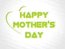 Illustration with text 11th May for Happy Mothers  Stock Photography