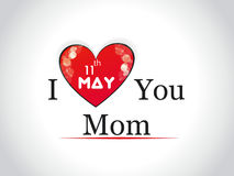 Illustration with text 11th May for Happy Mothers  Royalty Free Stock Photography