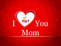 Illustration with text 11th May for Happy Mothers  Royalty Free Stock Photo