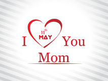 Illustration with text 11th May for Happy Mothers  Stock Photos