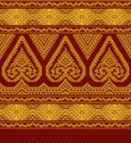 Illustration of textile ethnic ornament vector illustration