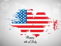 Illustration of 4th of July background. Illustration of elements of 4th of July background royalty free illustration