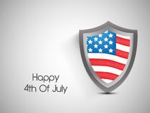 Illustration of 4th of July background Stock Photography