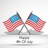 Illustration of 4th of July background Stock Images