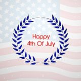 Illustration of 4th of July background. Illustration of elements of 4th of July background Royalty Free Stock Photography