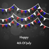 Illustration of 4th of July background. Illustration of elements of 4th of July background Stock Photography