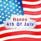 Illustration of 4th of July background. Illustration of elements of 4th of July background Stock Image