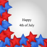 Illustration of 4th of July background. Illustration of elements of 4th of July background Stock Photos