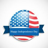Illustration of 4th of July background Royalty Free Stock Photos