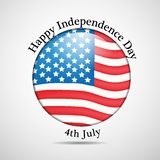 Illustration of 4th of July background Stock Photos