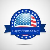 Illustration of 4th of July background Stock Image