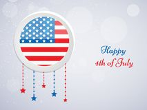 Illustration of 4th of July background Royalty Free Stock Photography