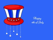 Illustration of 4th of July background. Illustration of elements of 4th of July background Stock Photo