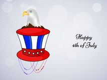 Illustration of 4th of July background Royalty Free Stock Photo