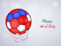 Illustration of 4th of July background. Illustration of elements of 4th of July background Royalty Free Stock Images