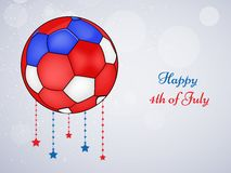 Illustration of 4th of July background. Illustration of elements of 4th of July background Royalty Free Stock Photo