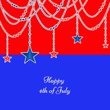 Illustration of 4th of July background. Illustration of elements of 4th of July background Royalty Free Stock Image