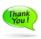 Thank you green speech bubble. Illustration of thank you green speech bubble Stock Photo