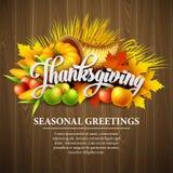 Illustration of a Thanksgiving cornucopia full of Royalty Free Stock Photo