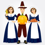 Illustration for thanksgiving of the pilgrims Royalty Free Stock Photo