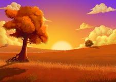 Illustration: The Autumn. Stock Photo