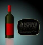 Illustration The Elite Wine Bottle Royalty Free Stock Photo