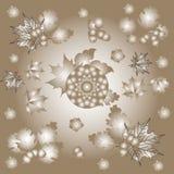Illustration on the theme of autumn, leaves, oak, maple, and acorns Stock Photos