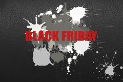 Illustration on the theme of black friday sale. royalty free stock photo