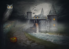 The illustration on the theme of Halloween Royalty Free Stock Photo