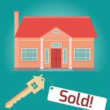 Illustration on the theme of home sales. Stock Photos