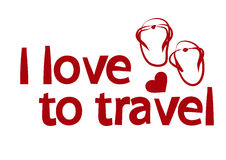 Illustration on the theme of love for travel  Stock Images