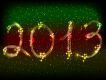 The illustration on the theme of the new year Royalty Free Stock Images