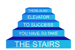 Illustration - There is No Elevator to Reach Success Stock Photo