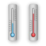 Illustration of thermometers Stock Photos