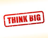Think big text buffered Royalty Free Stock Image