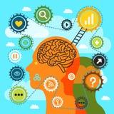 Illustration of thinking man Stock Images