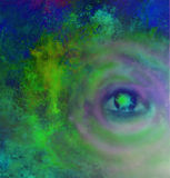 Illustration of a third eye mystical sign Stock Images